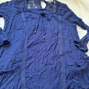 Jolt Tops - Jolt size medium Navy Blue Top long sleeve